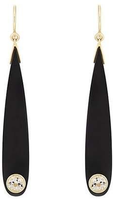 Mark Davis Women's Bakelite & White Topaz Drop Earrings - Black