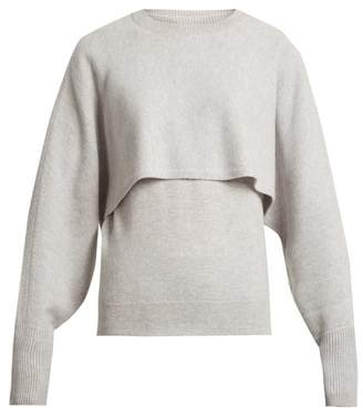 Chloé - Layer Crew Neck Cashmere Sweater - Womens - Grey