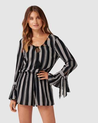 Band of Gypsies Shashta Stripe Romper