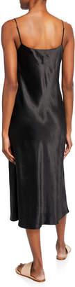 Vince Satin Midi Slip Dress