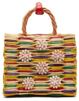 Heimat Atlantica - Chito Seashell Embellished Basket Bag - Womens - Red Multi