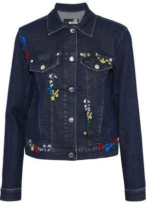 Love Moschino Embroidered Denim Jacket