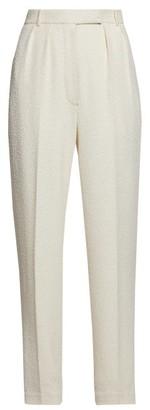 The Row Landeli Boucle Wide Leg Trousers - Womens - Cream