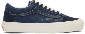 Vans Navy Checkerboard OG Old Skool LX Sneakers