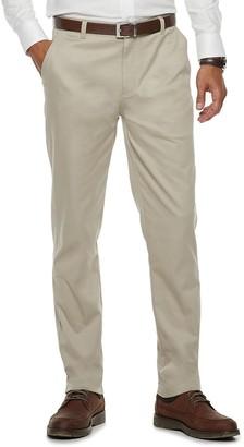 Chaps Men's Flat-Front Pants
