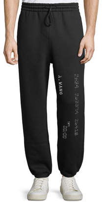 Alexander Wang Men's Credit Card Decal Sweatpants