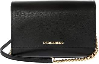DSQUARED2 Metallic Logo Shoulder Bag