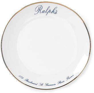 Ralph Lauren Home Set of 4 Ralph's Paris Canapé Salad Plates - White/Navy