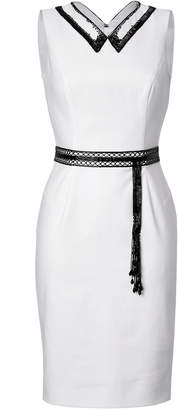 L'Wren Scott Sheath with Beaded Collar and Belt