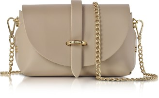 Le Parmentier Caviar Nude Leather Mini Shoulder Bag