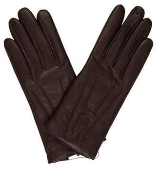 Hermes Cashmere-Lined Leather Gloves w/ Tags