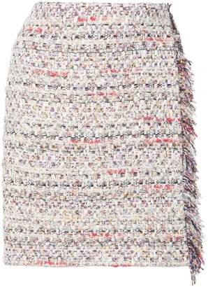 ADAM by Adam Lippes tweed mini wrap skirt