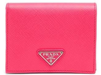 Prada Saffiano Leather Bi Fold Wallet - Womens - Pink