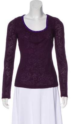 Dolce & Gabbana Angora-Blend Embellished Top