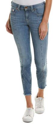 True Religion Jennie Straight Edge Indigo Curvy Skinny Leg