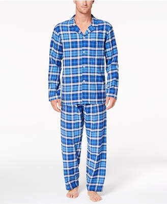 Club Room Men's Cotton Flannel Pajama Set