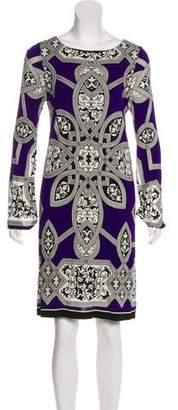 Nicole Miller Knee-Length Long Sleeve Dress