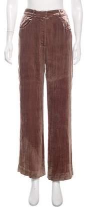 Rodarte High-Rise Velvet Pants