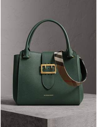 The Leather Barrel Bag - Green Burberry RI9srzWs