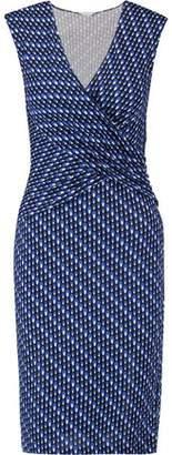 Diane von Furstenberg Wrap-Effect Printed Silk-Crepe Dress