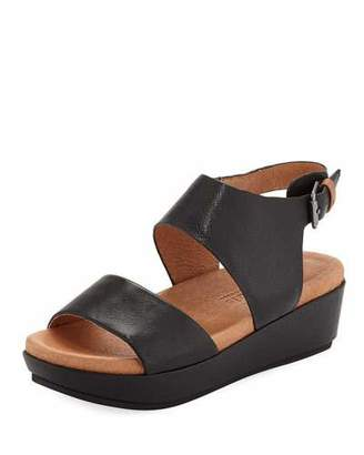Gentle Souls Lori Leather Comfort Wedge Sandal