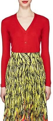 Prada Women's Fine-Gauge Knit Cashmere-Silk Cardigan