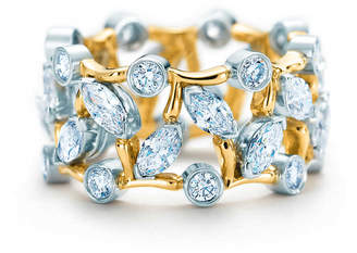 Tiffany & Co. Schlumberger Vigne ring with diamonds.