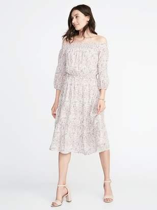Old Navy Waist-Defined Off-the-Shoulder Dress for Women