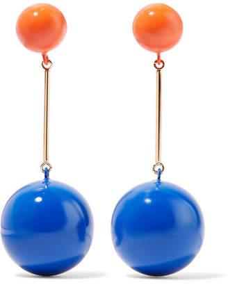 J.W.Anderson Sphere Enamel And Gold-tone Earrings - Blue
