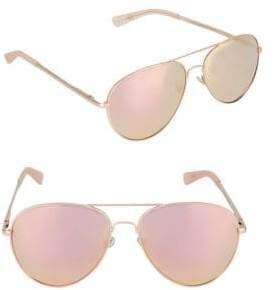 Nine West 60MM Aviator Sunglasses