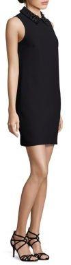 Trina Turk Marta Embellished Collar Shift Dress
