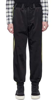 Song For The Mute Stripe outseam satin jogging pants