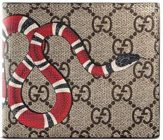 234ff1f741c5f8 Gucci Kingsnake print GG Supreme coin wallet