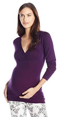 Ripe Maternity Women's Maternity Fitted Cross Over Knit Top
