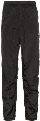 Stone Island logo patch rip-stop track trousers