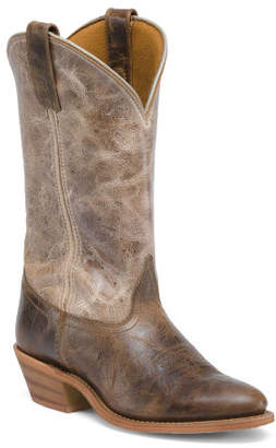 Distressed Leather Western Boots