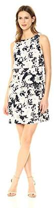 Tommy Hilfiger Women's Floral Jersey Print Layered Dress