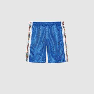 "Gucci Net shorts with ""Magnetismo"" stripe"