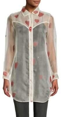Valentino Heart Silk Tunic