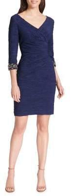 Eliza J Ruched Mini Sheath Dress