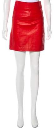 3.1 Phillip Lim Leather Pencil Skirt Red Leather Pencil Skirt