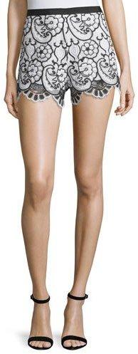 AlexisAlexis Pia Floral Lace Shorts, Blue