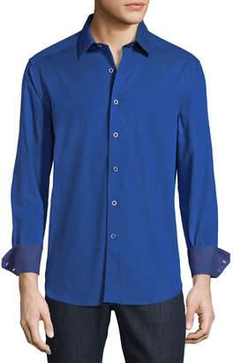 Robert Graham Fraktur Classic-Fit Polka-Dot Jacquard Sport Shirt