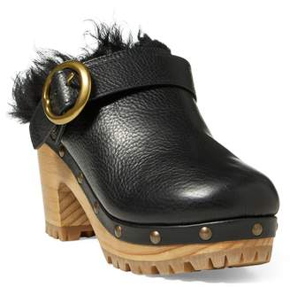 Ralph Lauren Jadyn Shearling-Leather Clog