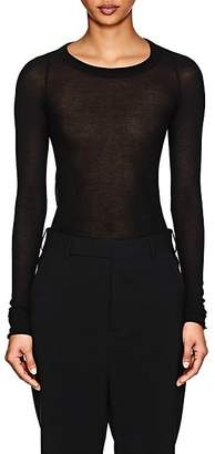Rick Owens Women's Gossamer Cotton Long-Sleeve T-Shirt - Black
