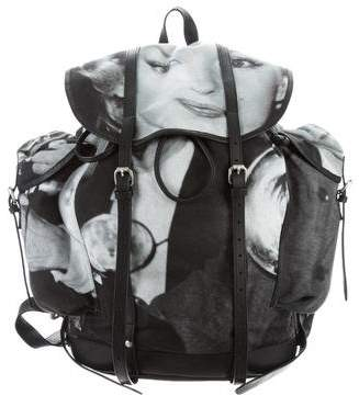 Dries Van Noten Leather-Trimmed Marilyn Backpack