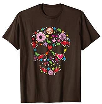 DAY Birger et Mikkelsen Candy Skull T-Shirt of the Dead Halloween Tee