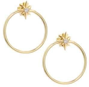 Roberto Coin Princess Cinderella 18K Yellow Gold& Diamond Hoop Earrings