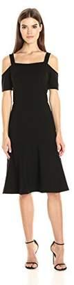 Adelyn Rae Women's Cold Shoulder Drop Waist Dress