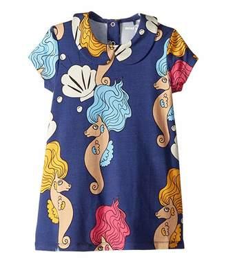 2c6c3f0789e4 Mini Rodini Seahorse Collar Short Sleeve Dress (Infant/Toddler/Little  Kids/Big